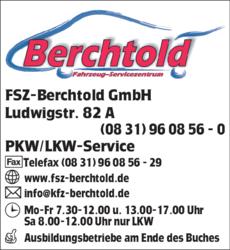 Anzeige Berchtold Fahrzeug-SZ