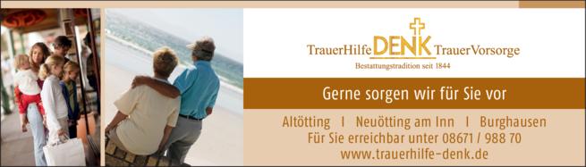 Anzeige Bestattungsinstitut Denk TrauerHilfe GmbH