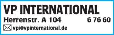 Anzeige VP INTERNATIONAL