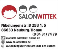 Anzeige Friseur Salon Wittek