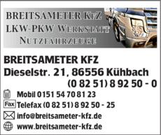 86556 Kühbach breitsameter kfz in kühbach in das örtliche