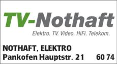 Anzeige NOTHAFT, ELEKTRO