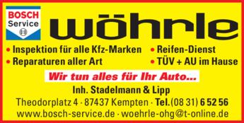 Anzeige Autoreparatur Wöhrle Bosch-Service
