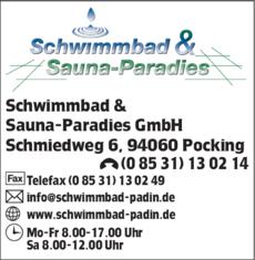 Anzeige Schwimmbad & Sauna-Paradies GmbH