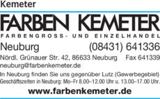 Farben Kemeter.Farben Kemeter In Neuburg In Das örtliche