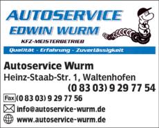 Anzeige Autoservice Wurm