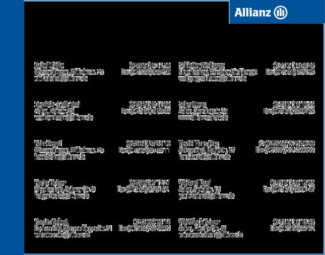 Anzeige Allianz Vertretungen
