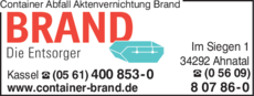 Anzeige Container Abfall Aktenvernichtung Brand