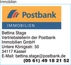 Immobilien Postbank Immobilien Bettina Stage in Kassel ⇒ in ...