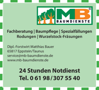Anzeige MB Baumdienste GmbH