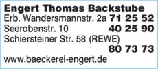 Anzeige Engert Thomas Backstube