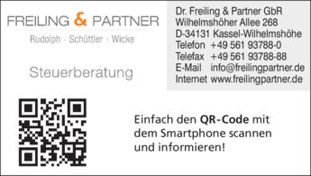 Anzeige Steuerberater Dr. Freiling + Partner GbR Rudolph Schüttler Wicke
