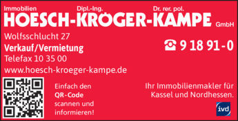 Anzeige Immobilien Hoesch Kröger Kampe GmbH ivd