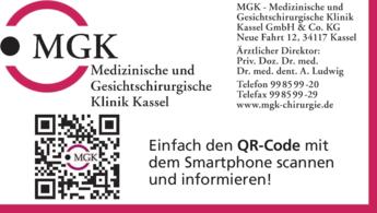 Anzeige MGK Medizinische und Gesichtschirurgische Klinik Kassel GmbH & Co. KG