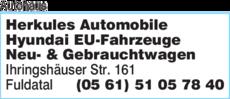 Anzeige Autohaus Auto Herkules
