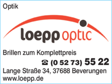 Anzeige optic loepp