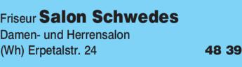 Anzeige Friseur Salon Schwedes