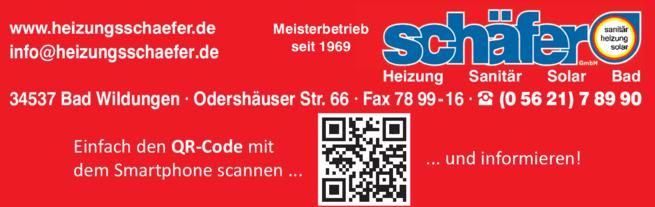 Anzeige Heizungsbau schäfer GmbH