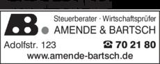 Anzeige Steuerberater Amende & Bartsch