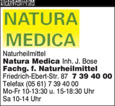 Anzeige Naturheilmittel Natura Medica