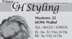Anzeige Friseur CH Styling