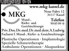 Anzeige Ludwig Arwed Dr.Dr. Mund-, Kiefer- und Gesichtschirurgie