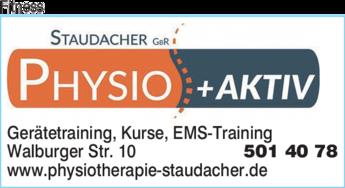 Anzeige Fitness Staudacher