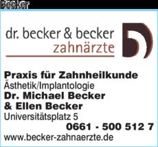 Anzeige Becker Dr. Becker & Becker Zahnärzte