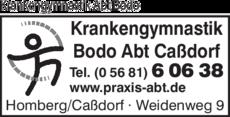 Anzeige Krankengymnastik Bodo Abt