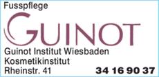 Anzeige Fusspflege Guinot Institut Wiesbaden