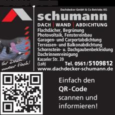 Anzeige Dachdecker Schumann GmbH & Co.KG
