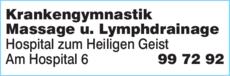 Anzeige Krankengymnastik Hospital zum Heiligen Geist gemeinnützige GmbH