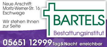 Anzeige Bartels Lars-Henning Bestattungsinstitut Koch