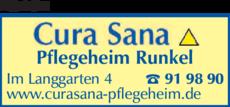Anzeige Altenheim Cura Sana Pflegeheim Runkel