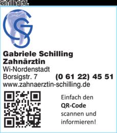 Anzeige Schilling Gabriele Zahnärztin
