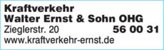 Anzeige Kraftverkehr Walter Ernst & Sohn OHG