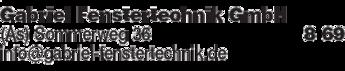 Anzeige Gabriel Fenstertechnik GmbH