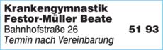 Anzeige Krankengymnastik Festor-Müller Beate