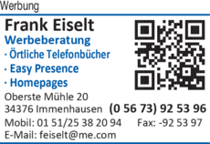 Anzeige Werbung Frank Eiselt