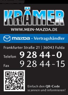 Anzeige Autohaus Krämer