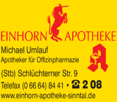 Anzeige Einhorn-Apotheke