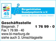Anzeige Bürgerinitiative Sozialpsychiatrie e.V.