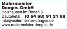 Anzeige Malermeister Donges GmbH