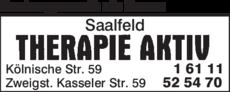 Anzeige Krankengymnastik alle Kassen Therapie Aktiv Saalfeld