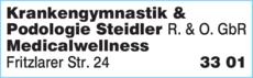 Anzeige Krankengymnastik & Podologie Steidler R. & O. GbR
