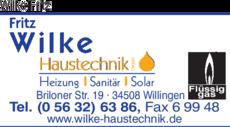 Fritz Haustechnik wilke fritz haustechnik gmbh in willingen in das örtliche