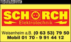 Anzeige Elektrotechnik Schorch