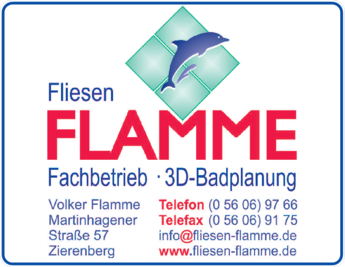 Anzeige Flamme Volker Fliesenlegermeister