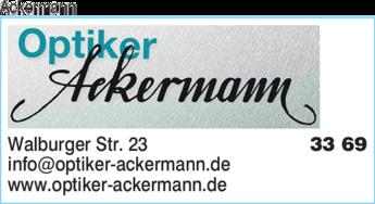 Anzeige Ackermann Optiker