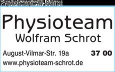 Anzeige Physiotherapie Wolfram Schrot